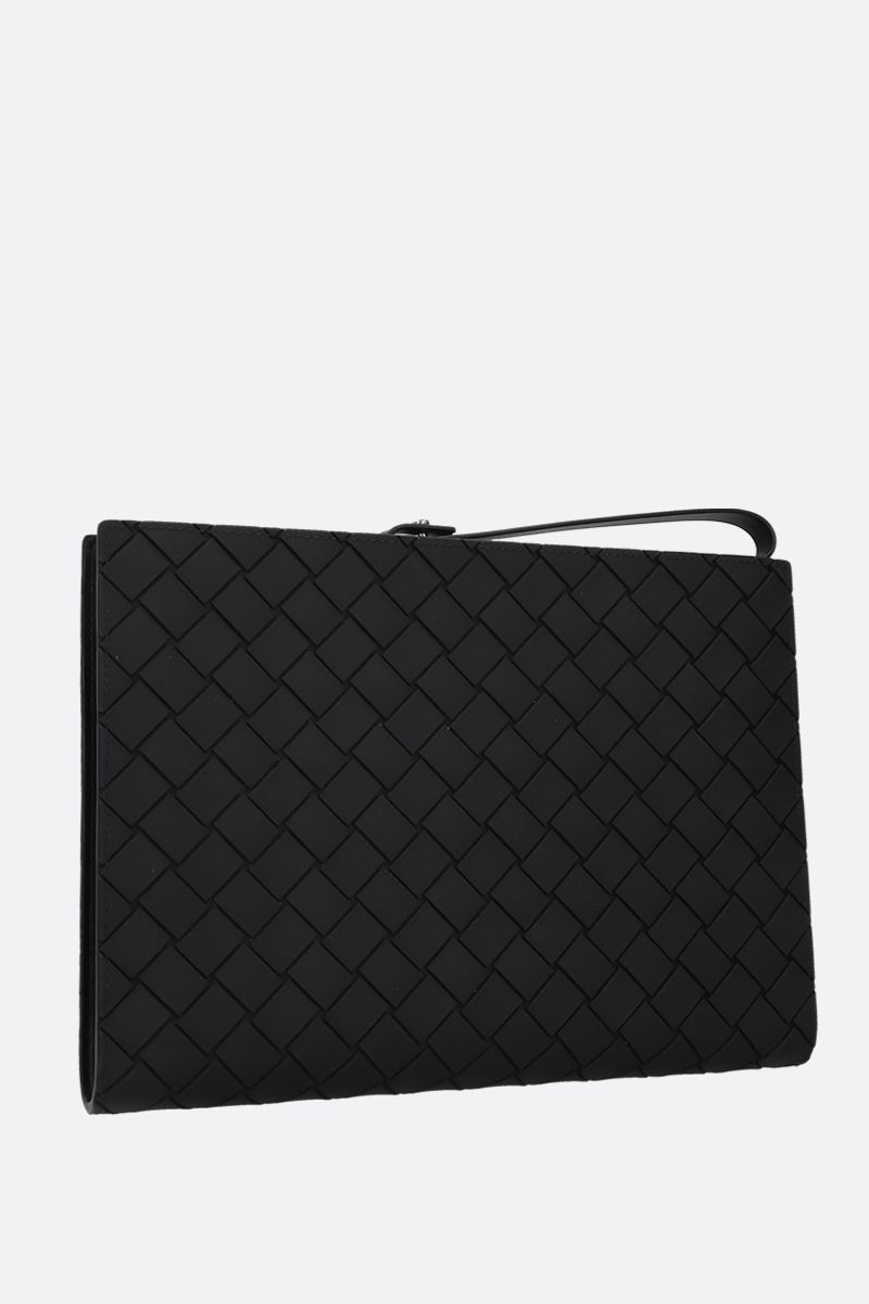 BOTTEGA VENETA: embossed Intrecciato document holder Color Black_2