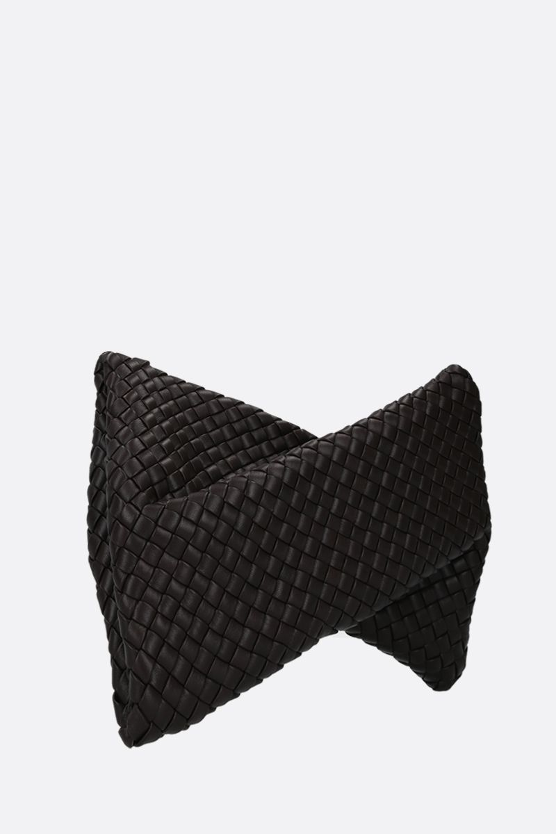 BOTTEGA VENETA: BV Crisscross clutch in padded Intrecciato nappa Color Brown_2