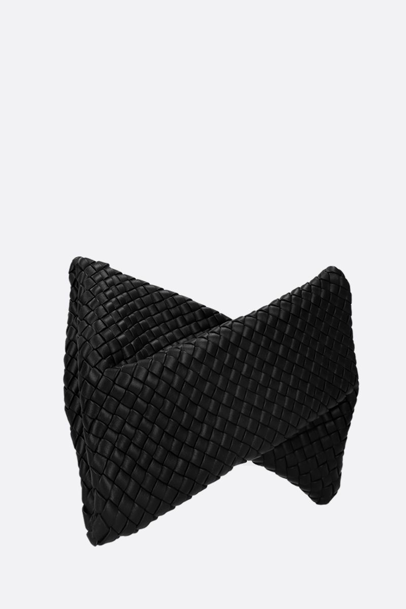 BOTTEGA VENETA: BV Crisscross clutch in padded Intrecciato nappa Color Black_2