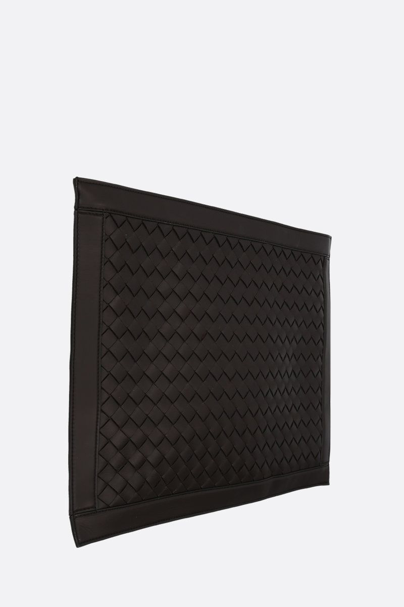 BOTTEGA VENETA: Intrecciato Hidrology clutch Color Brown_2
