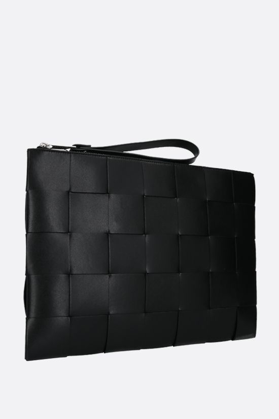 BOTTEGA VENETA: Maxi Intrecciato clutch Color Black_2