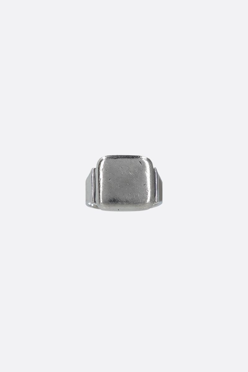 BOTTEGA VENETA: sterling silver square signet ring Color Silver_1