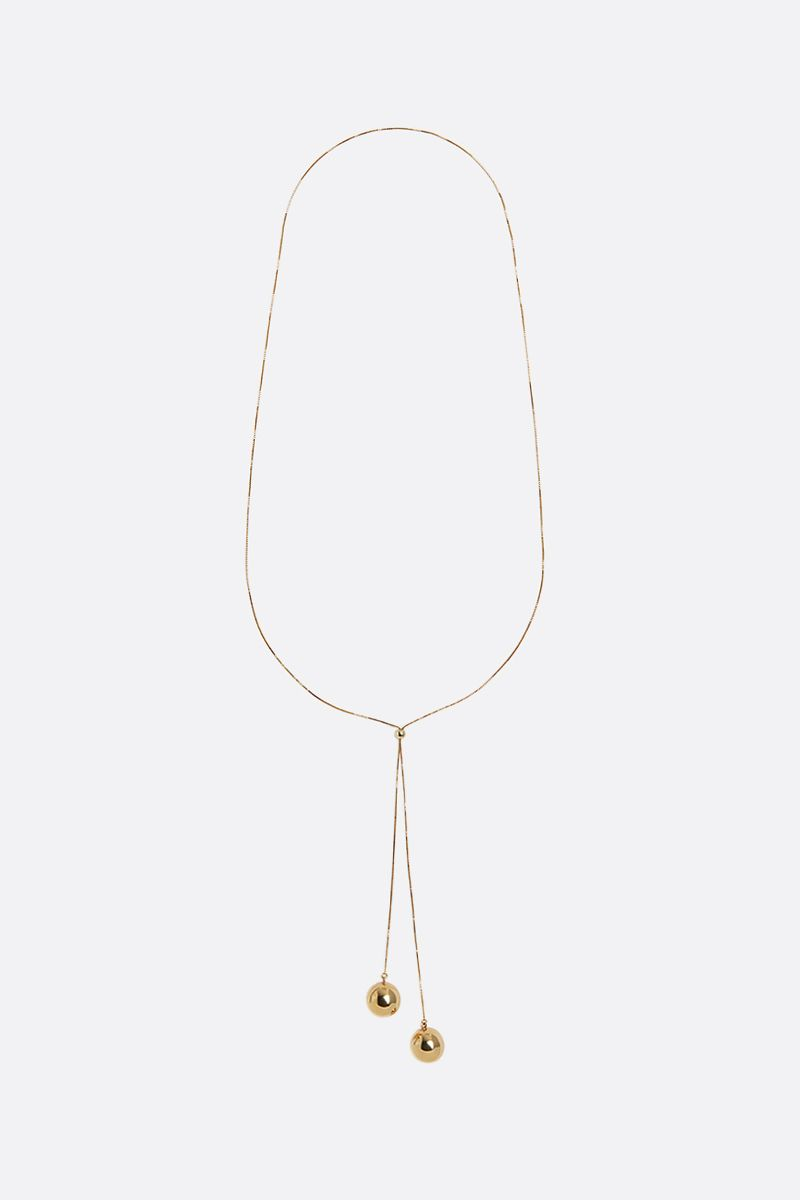BOTTEGA VENETA: sterling silver necklace Color Gold_1