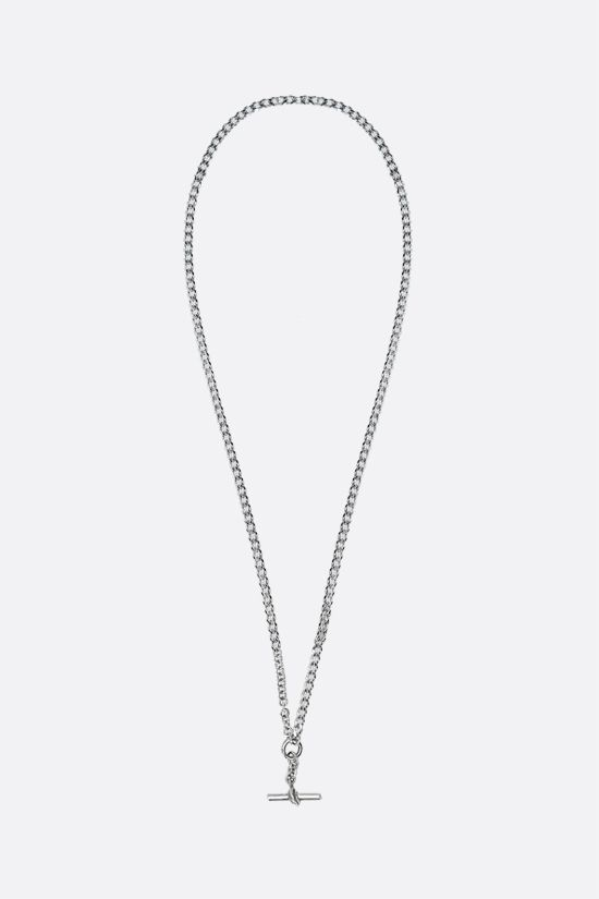 BOTTEGA VENETA: sterling silver chain necklace Color Silver_1