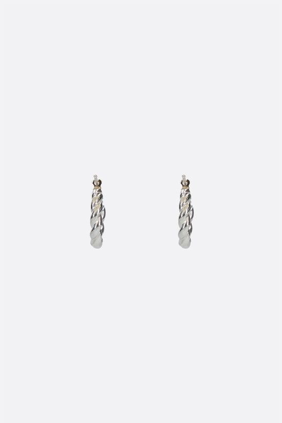 BOTTEGA VENETA: sterling silver hoop earrings Color Silver_1