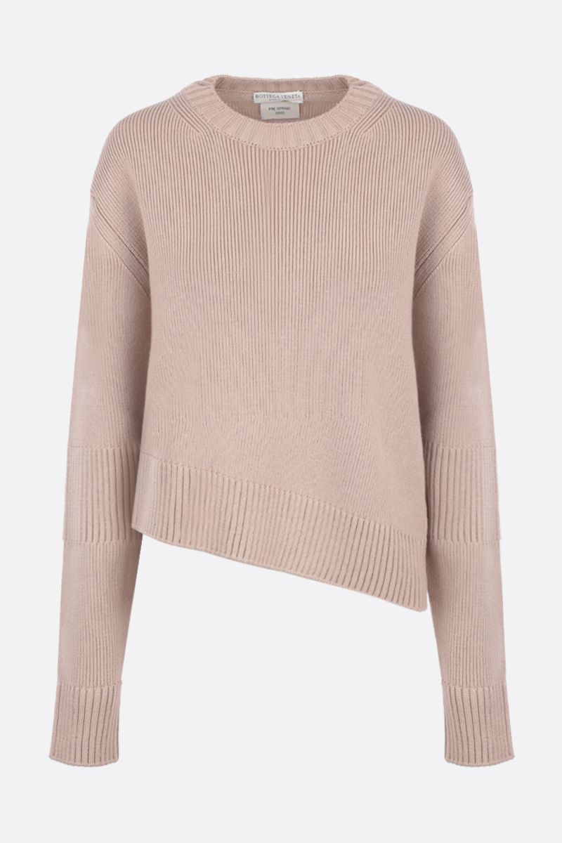 BOTTEGA VENETA: wool blend pullover with opening detail Color Grey_1