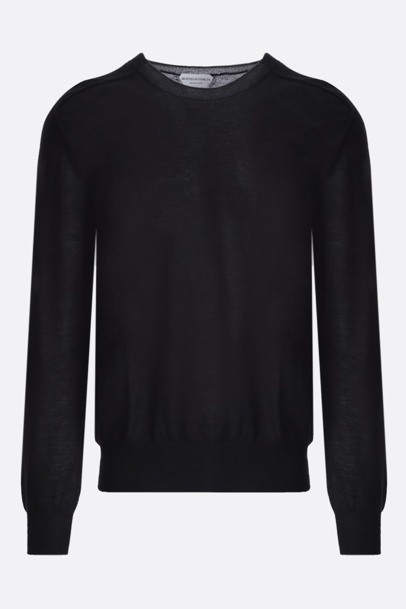 BOTTEGA VENETA: superfine cashmere pullover Color Black_1