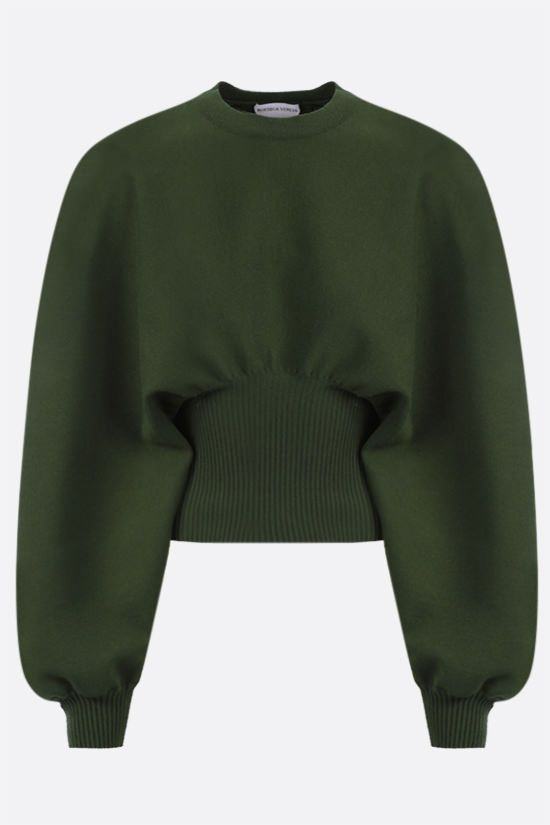 BOTTEGA VENETA: puff sleeve-detailed technical wool pullover Color Animalier_1