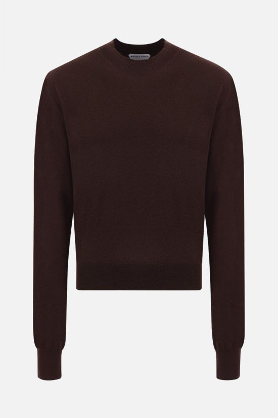 BOTTEGA VENETA: cashmere blend pullover Color Brown_1