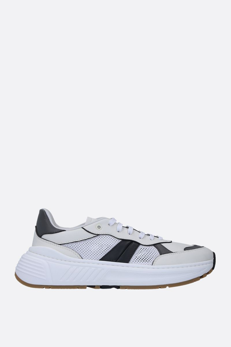 BOTTEGA VENETA: Speedstar sneakers in smooth leather and mesh Color White_1
