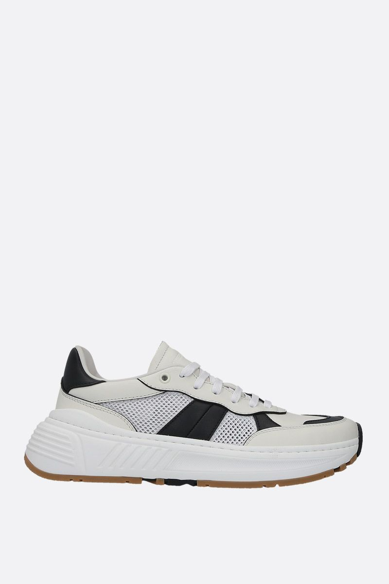 BOTTEGA VENETA: Speedster smooth leather and mesh sneakers Color White_1