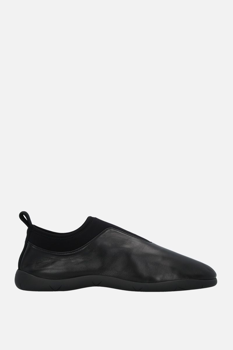 BOTTEGA VENETA: soft nappa and neoprene slip-on sneakers Color Black_1