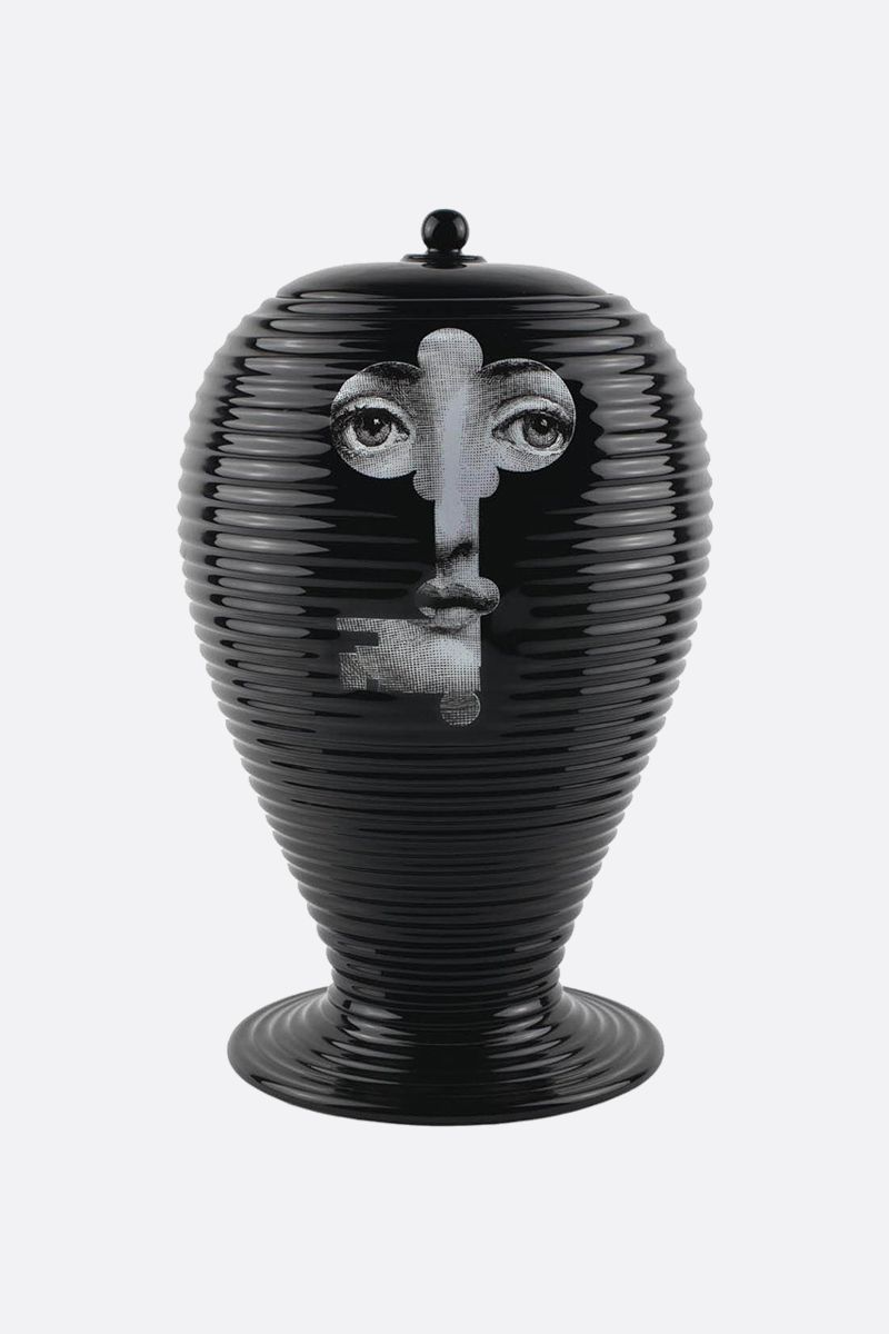 FORNASETTI: Rigato Serratura ceramic vase Color White_1