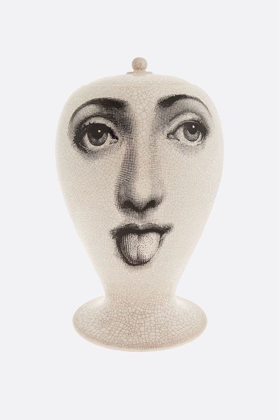 FORNASETTI: Antipatico craquelè ceramic vase Color Black_1