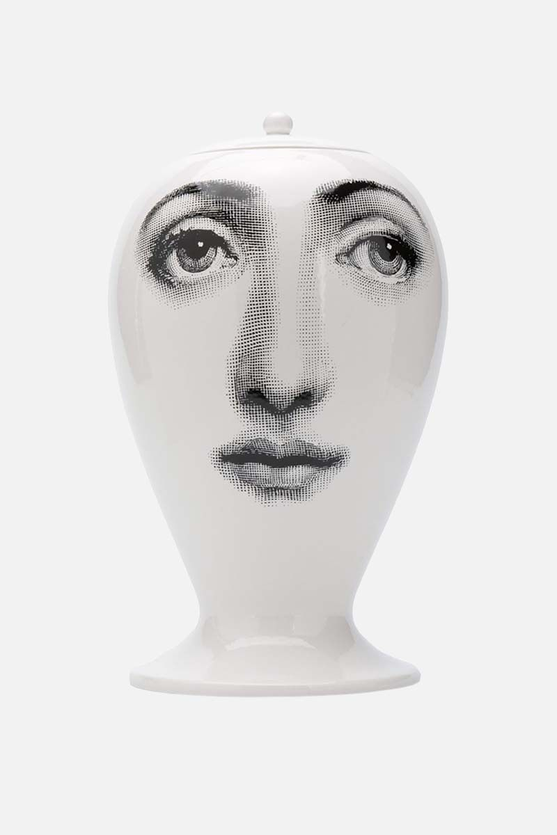 FORNASETTI: Alla Finestra ceramic vase Color White_1