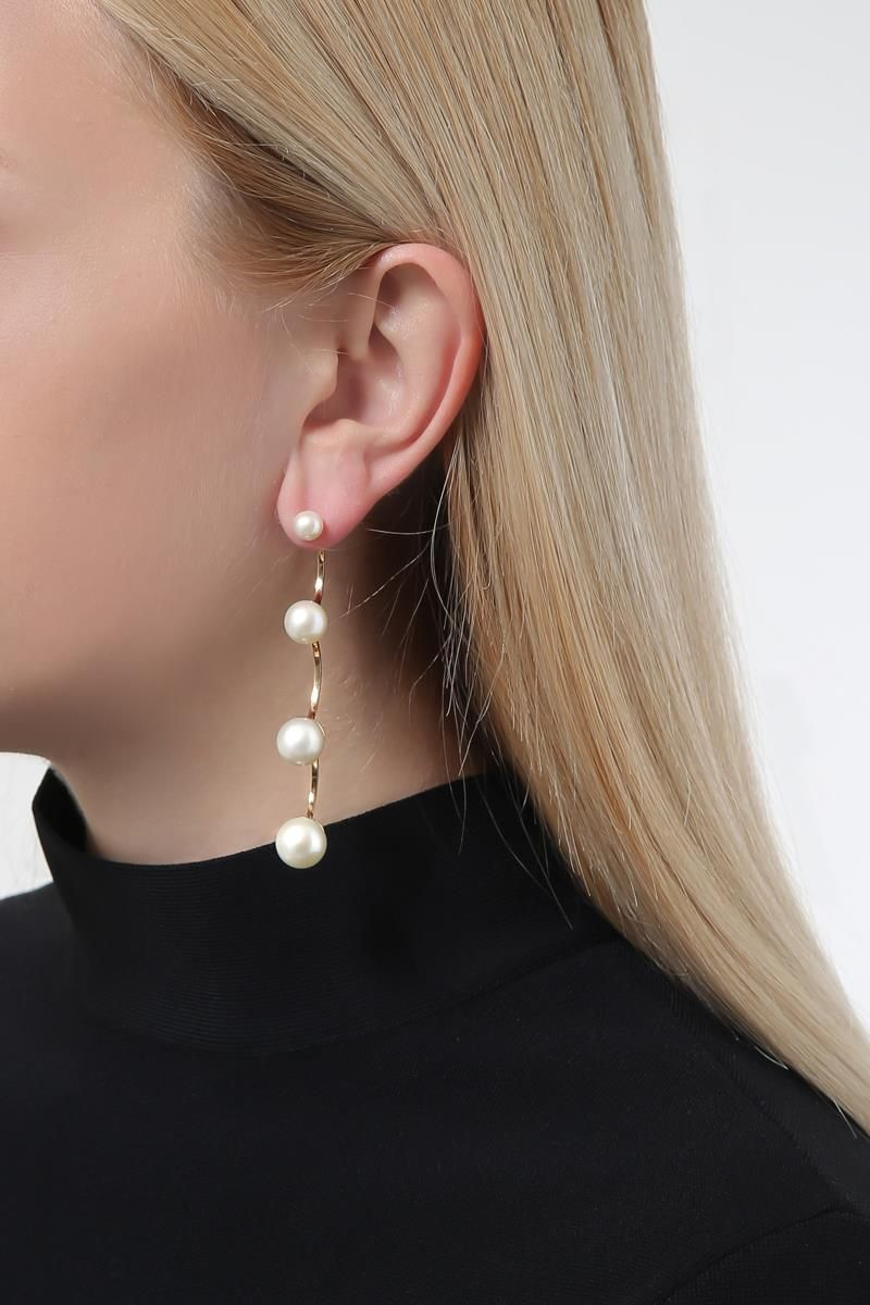 DELFINA DELETTREZ: Pearls gold earring Color Gold_2