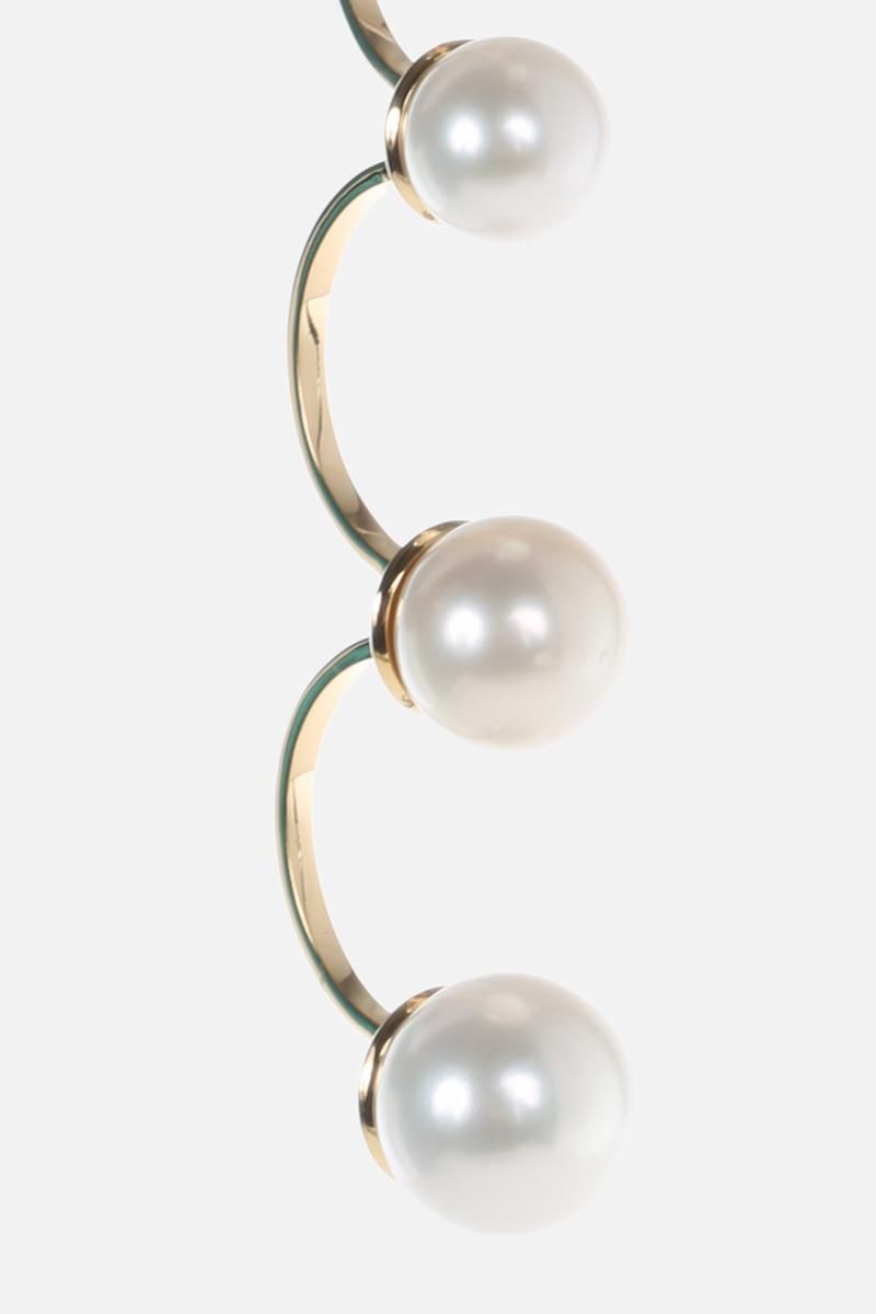 DELFINA DELETTREZ: Pearls gold earring Color Gold_3