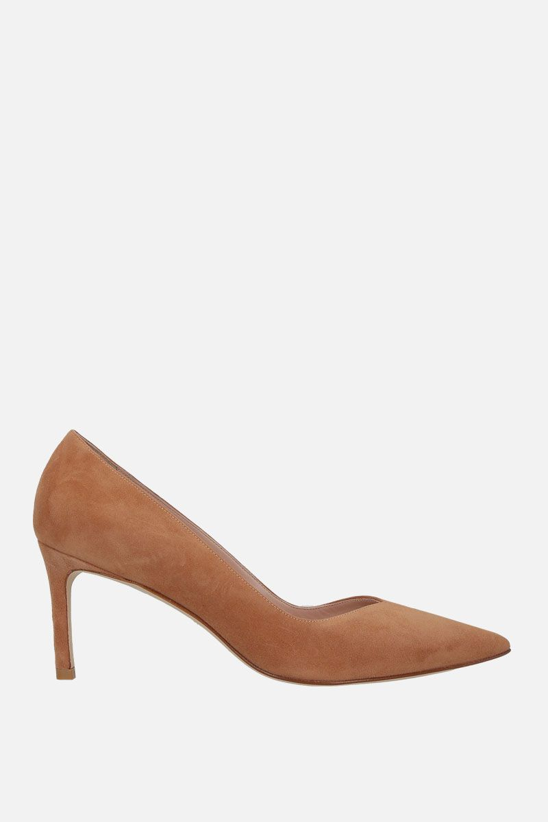 STUART WEITZMAN: Anny suede pumps Color Neutral_1