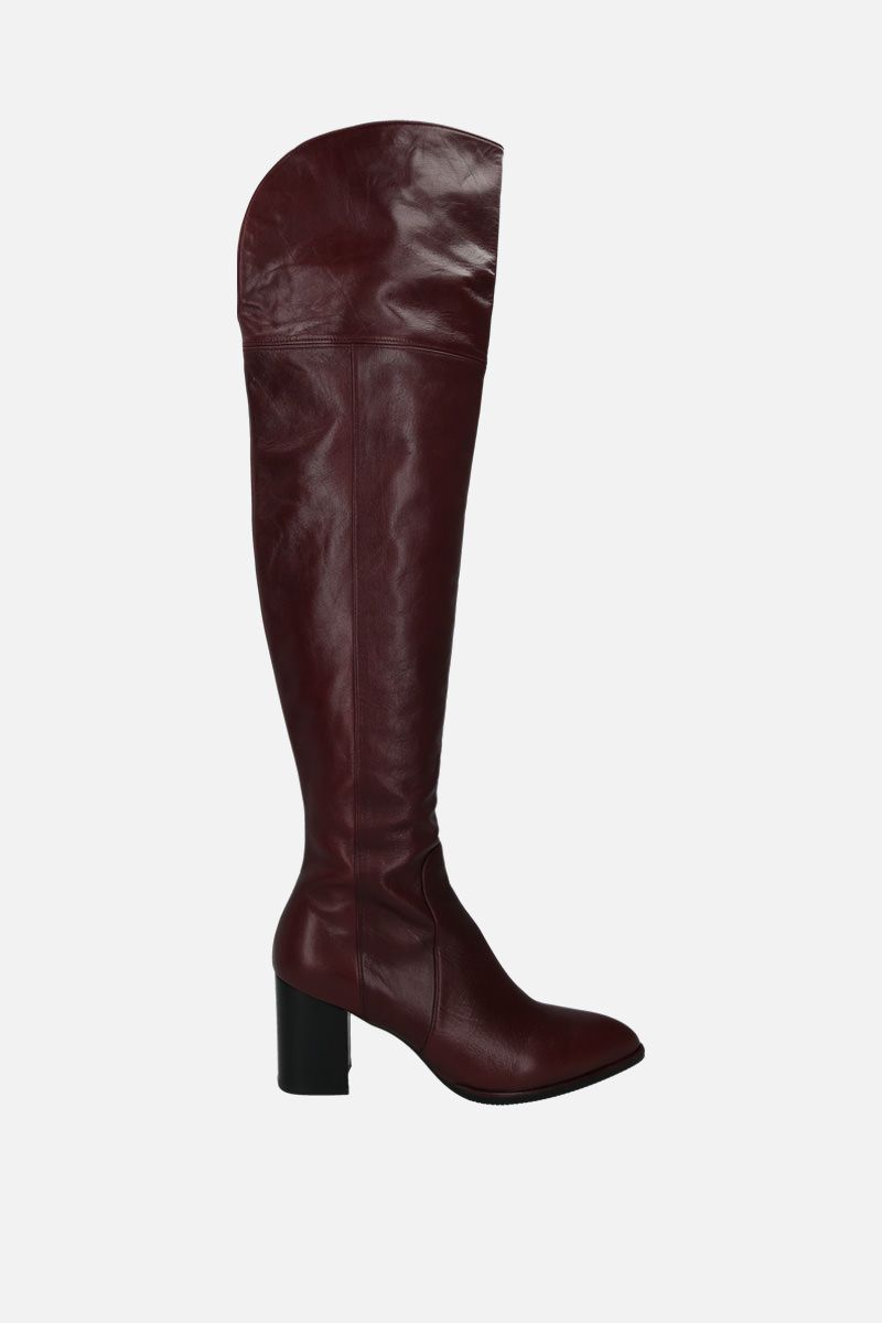 STUART WEITZMAN: Raylene soft nappa over-the-knee boots Color Red_1