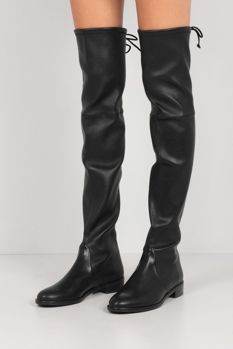 STUART WEITZMAN: Lowland stretch nappa over-the-knee boots Color Black_2