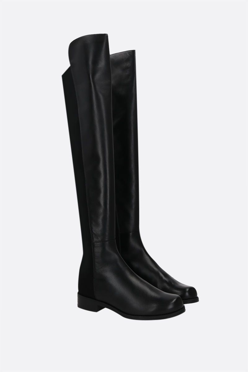 STUART WEITZMAN: 5050 nappa and stretch fabric over-the-knee boots Color Black_2