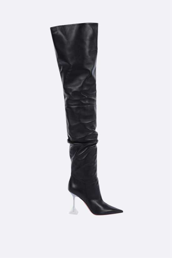 AMINA MUADDI: Olivia soft nappa over-the-knee boots Color Black_1