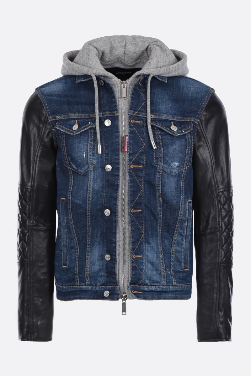 DSQUARED2: Dan Jean jacket Color Blue_1
