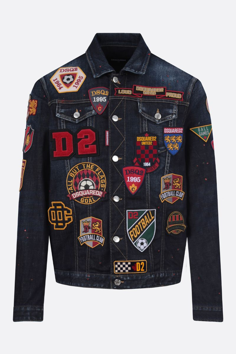 DSQUARED2: Dan stretch denim jacket Color Multicolor_1
