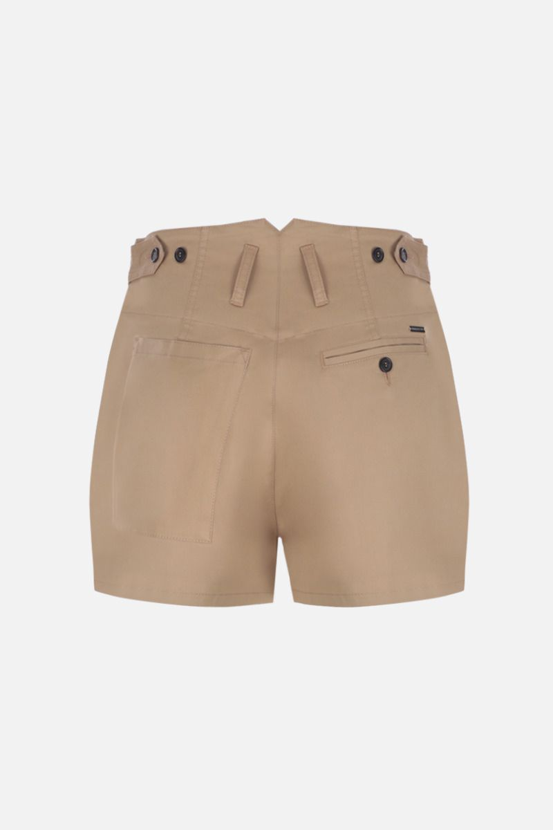 DSQUARED2: stretch cotton darted shorts Color Neutral_2