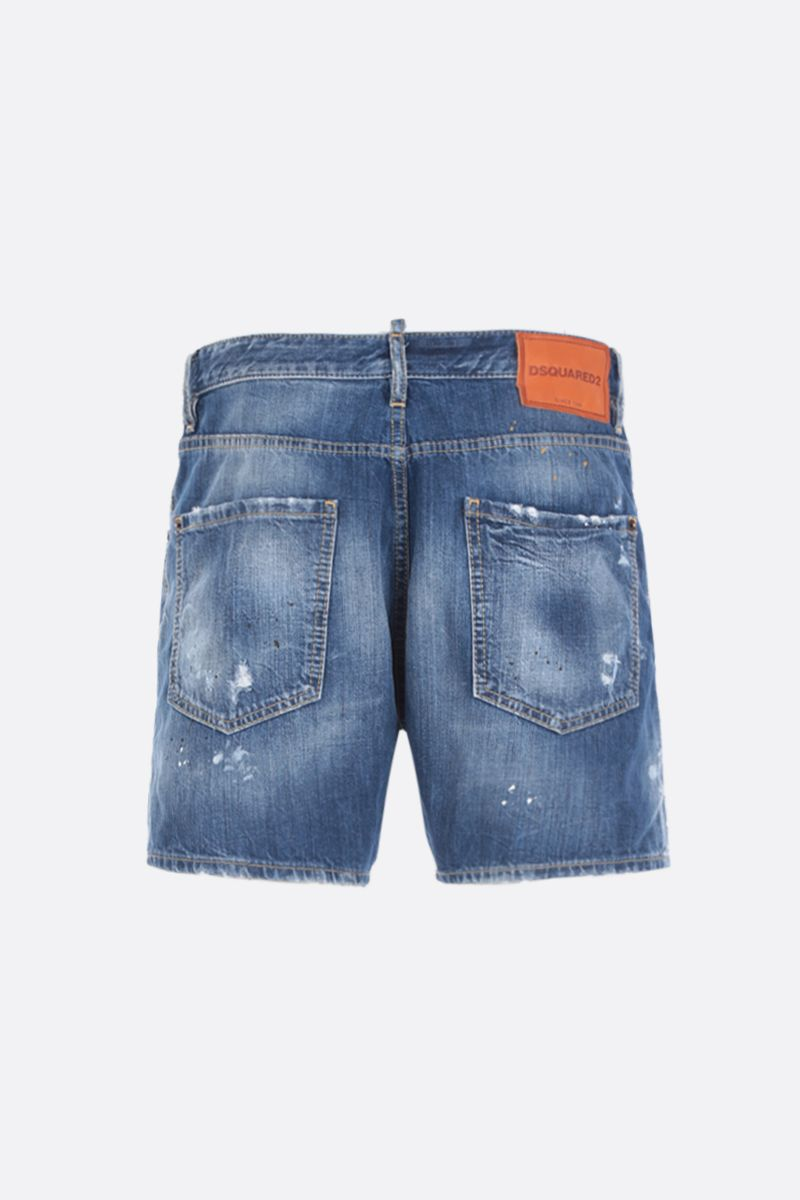 DSQUARED2: denim shorts with distressed effect Color Blue_2