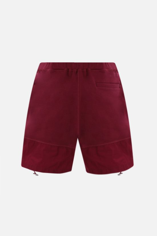 DSQUARED2: Canadian Leaf print cotton shorts Color Red_2