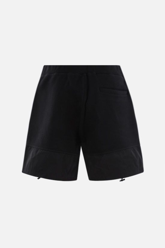 DSQUARED2: Canadian Leaf print cotton shorts Color Black_2