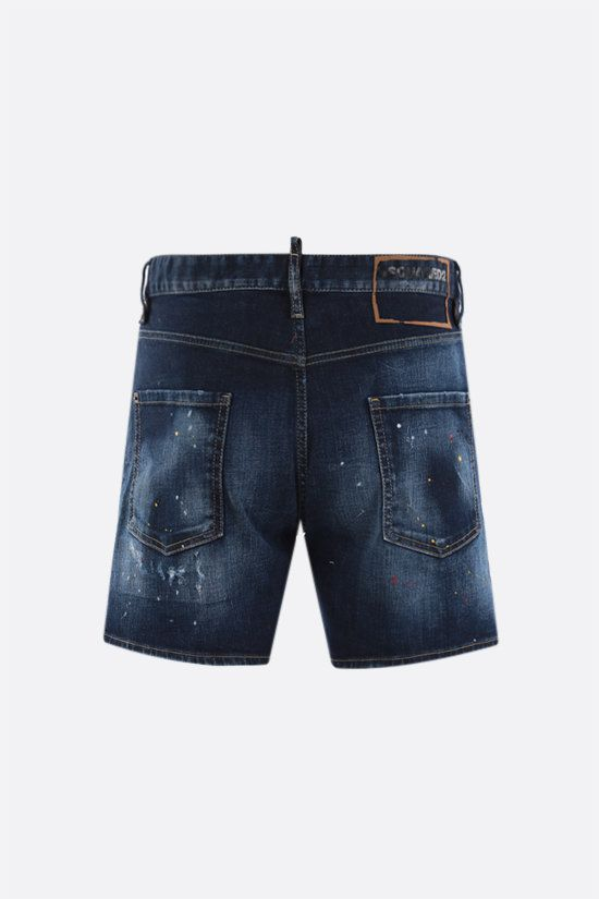 DSQUARED2: Dan Commando denim shorts Color Blue_2