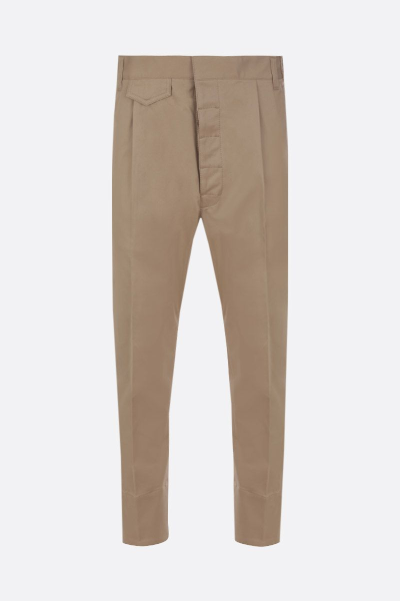 DSQUARED2: stretch cotton cropped pants Color Neutral