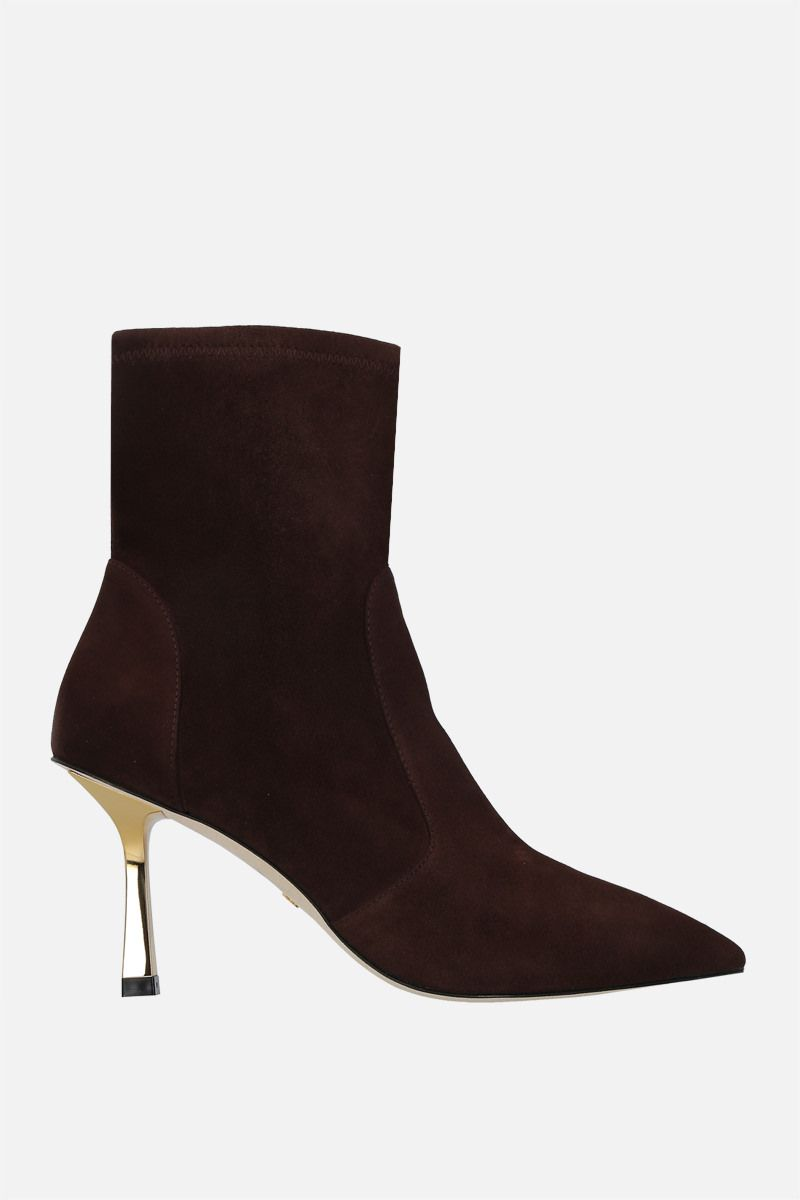STUART WEITZMAN: Max stretch suede ankle boots Color Brown_1