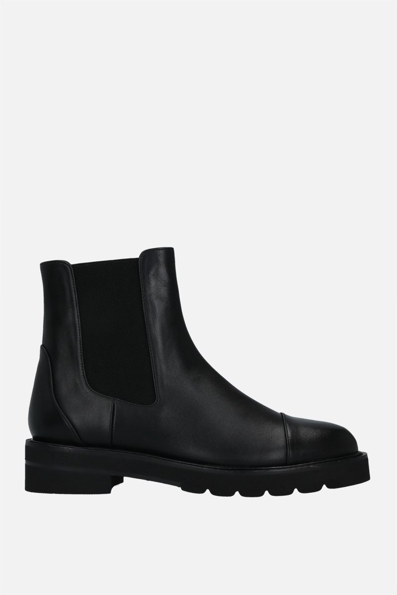 STUART WEITZMAN: Frankie Lift smooth leather chelsea boots Color Black_1