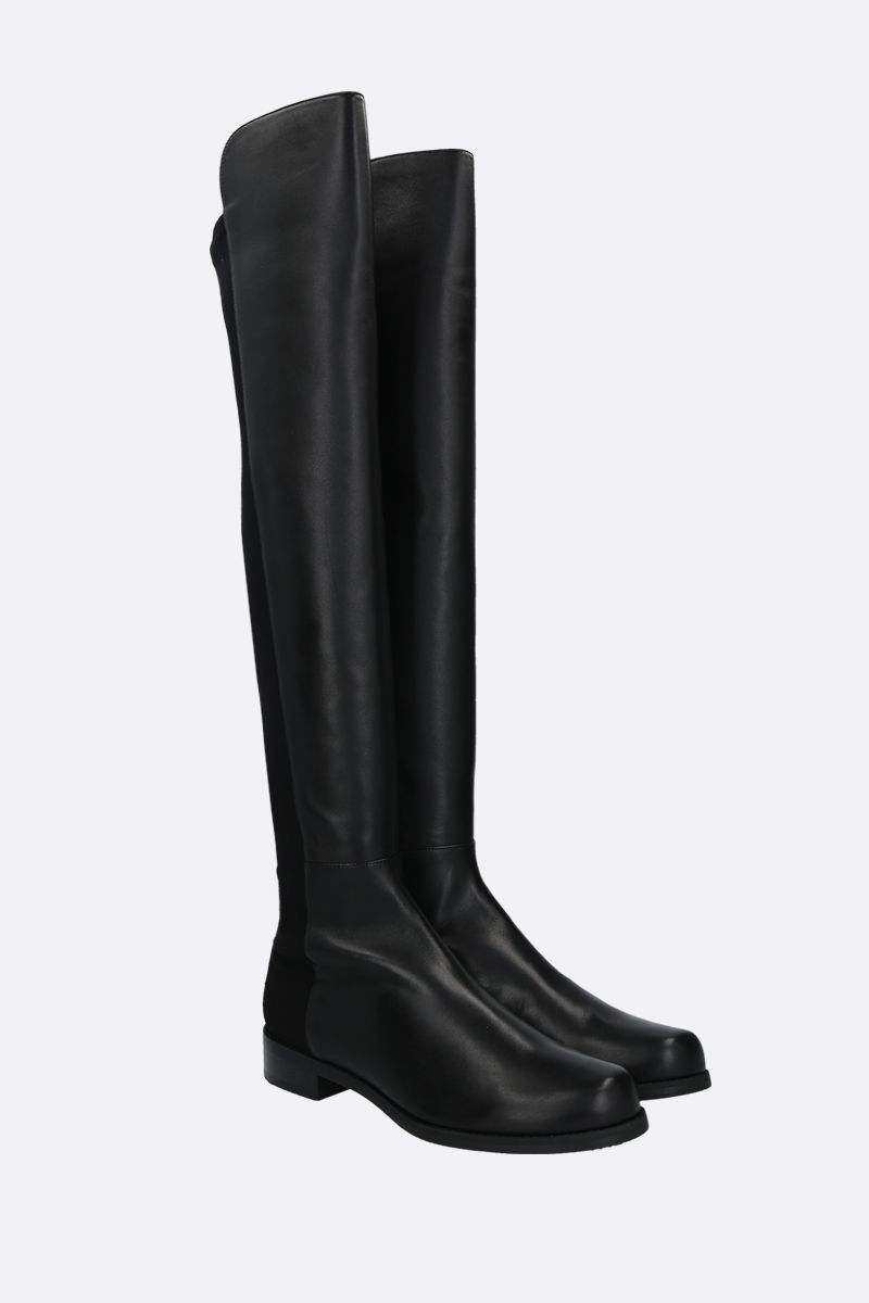 STUART WEITZMAN: 5050 nappa and gabardine over-the-knee boots Color Black_2