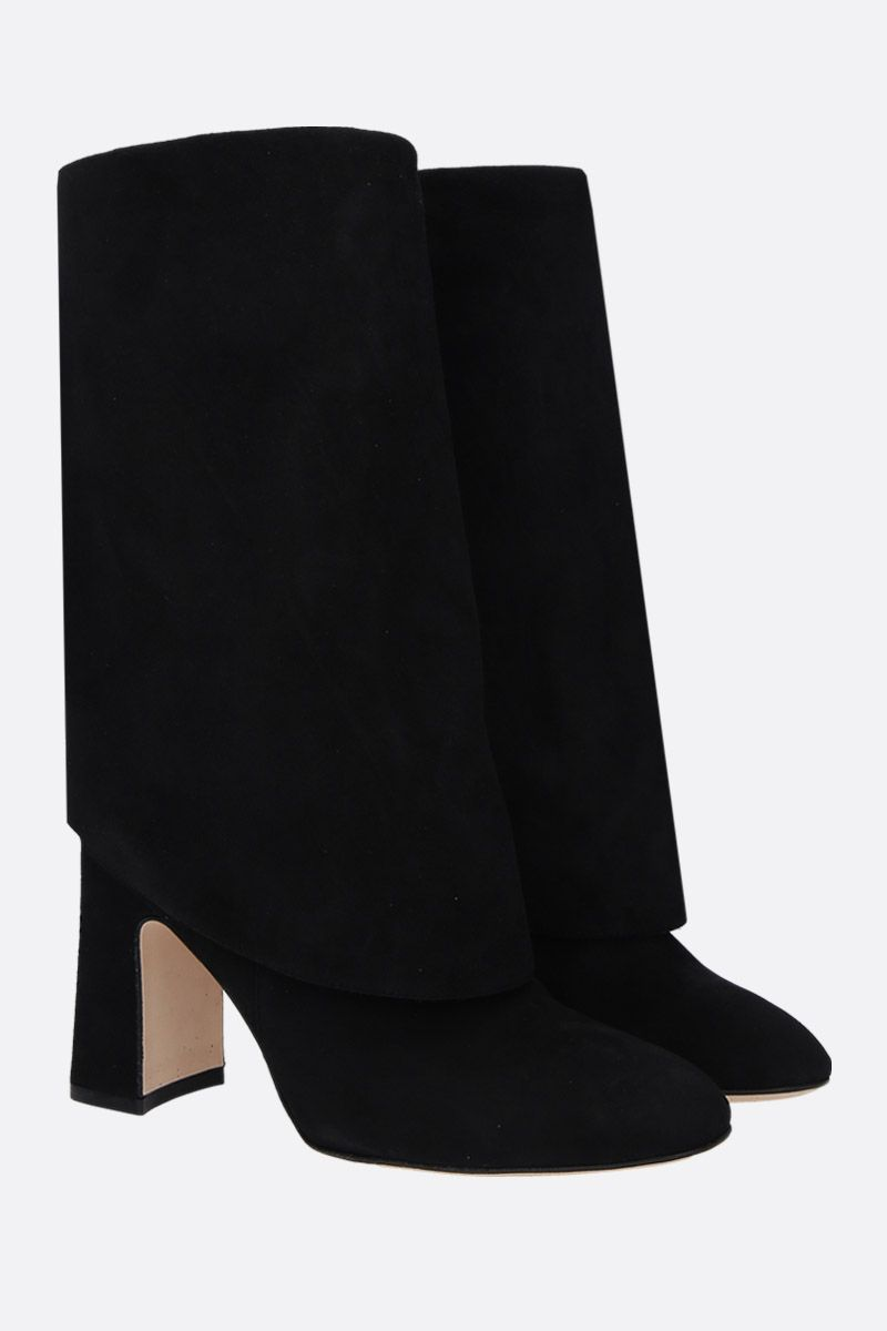 STUART WEITZMAN: Lucinda suede pull-on boots Color Black_2