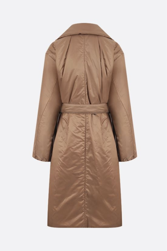 MAX MARA THE CUBE: Greenco padded nylon double-breasted coat Color Brown_2