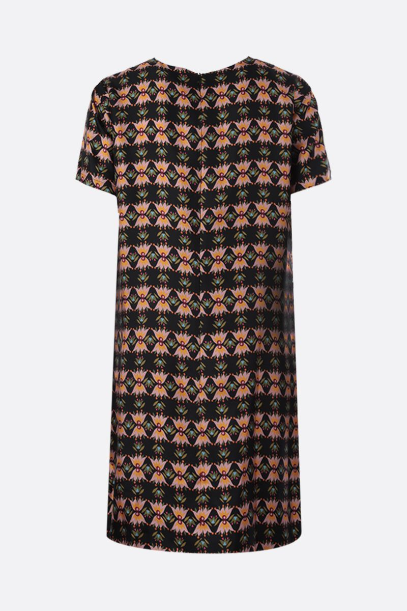 LA DOUBLE J: Bacetto print silk short dress Color Multicolor_2
