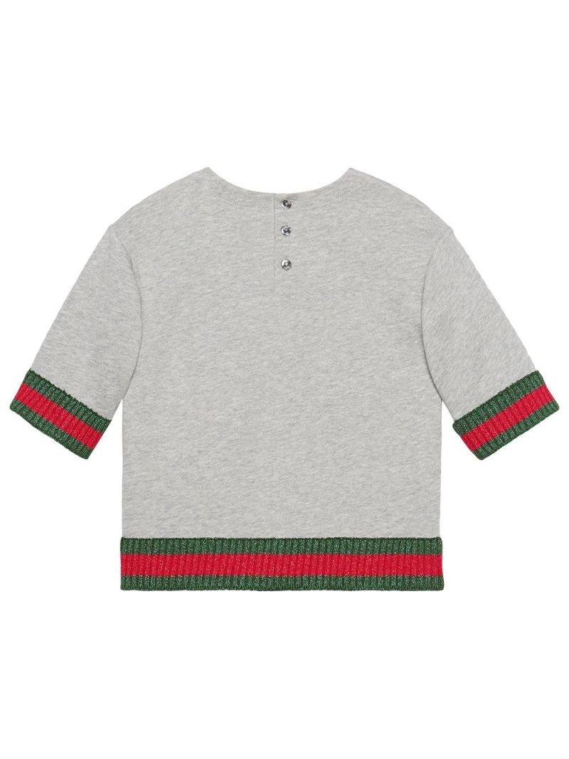 GUCCI CHILDREN: Gucci Game embroidery cotton sweatshirt Color Multicolor_2