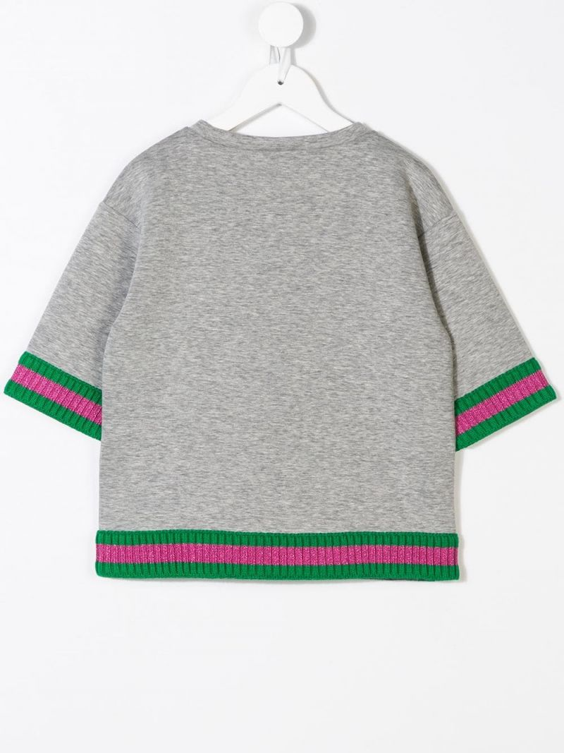 GUCCI CHILDREN: Tiger print cotton sweatshirt Color Multicolor_2