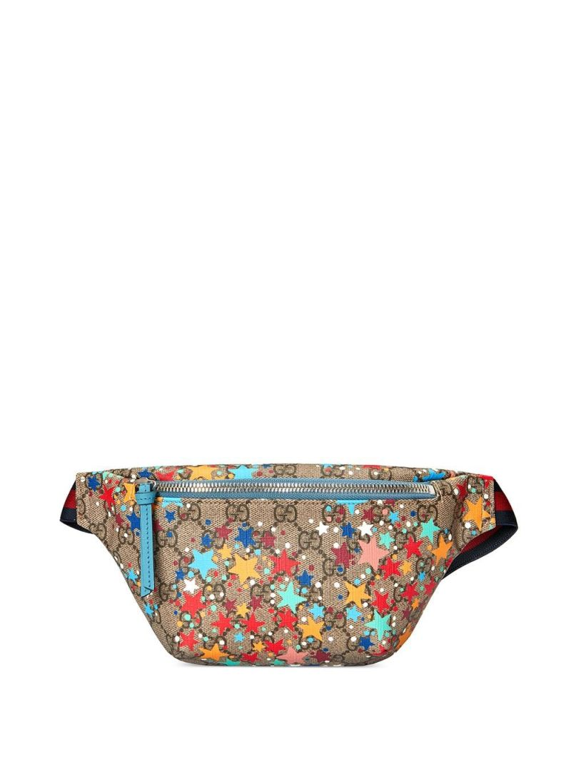 GUCCI CHILDREN: stars print GG Supreme canvas belt bag Color Multicolor_1
