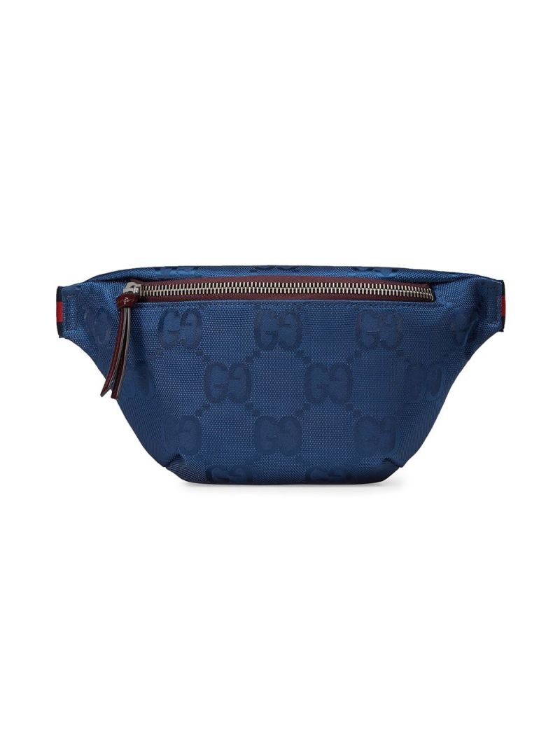 GUCCI CHILDREN: GG ECONYL® belt bag Color Blue_1