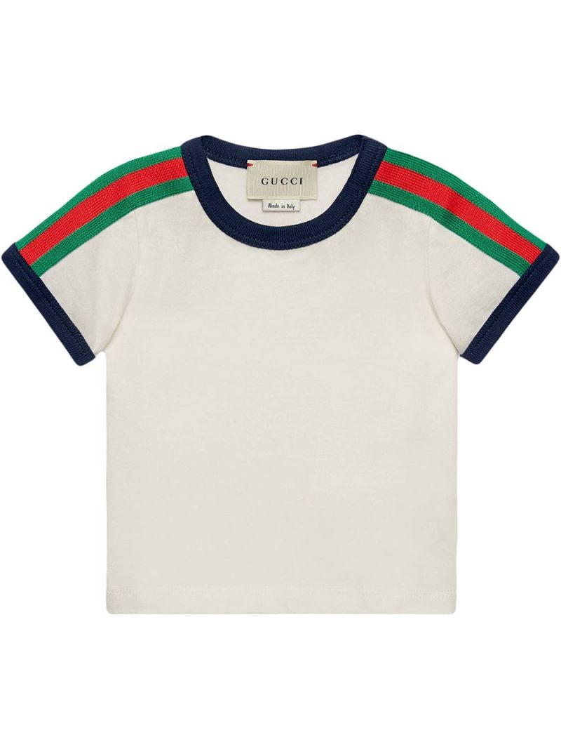 GUCCI CHILDREN: t-shirt in cotone stampa Kingsnake Colore Multicolore_1