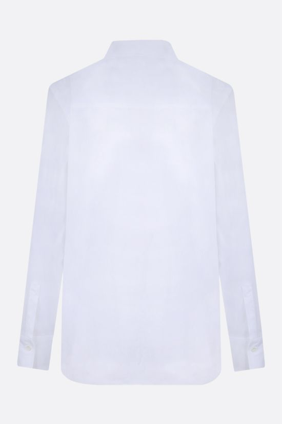 BRUNELLO CUCINELLI: monili-detailed stretch cotton shirt Color White_2