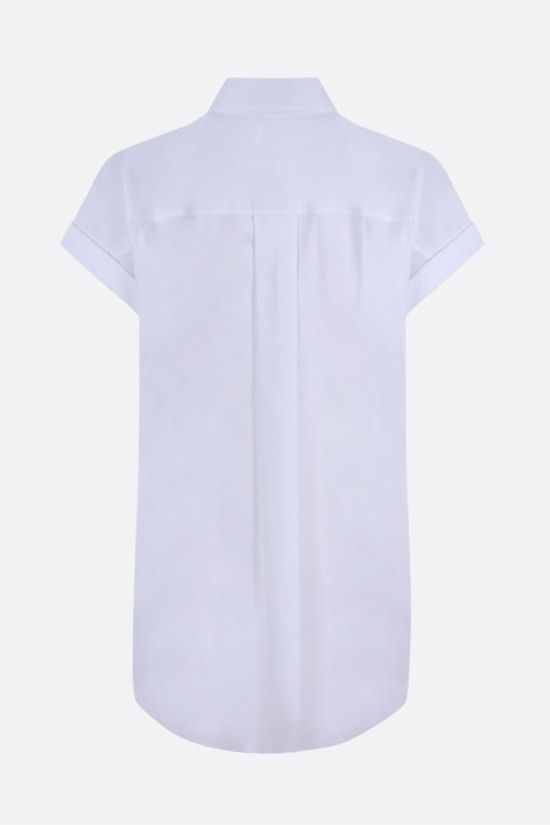 BRUNELLO CUCINELLI: monili-detailed cotton blend short-sleeved shirt Color White_2