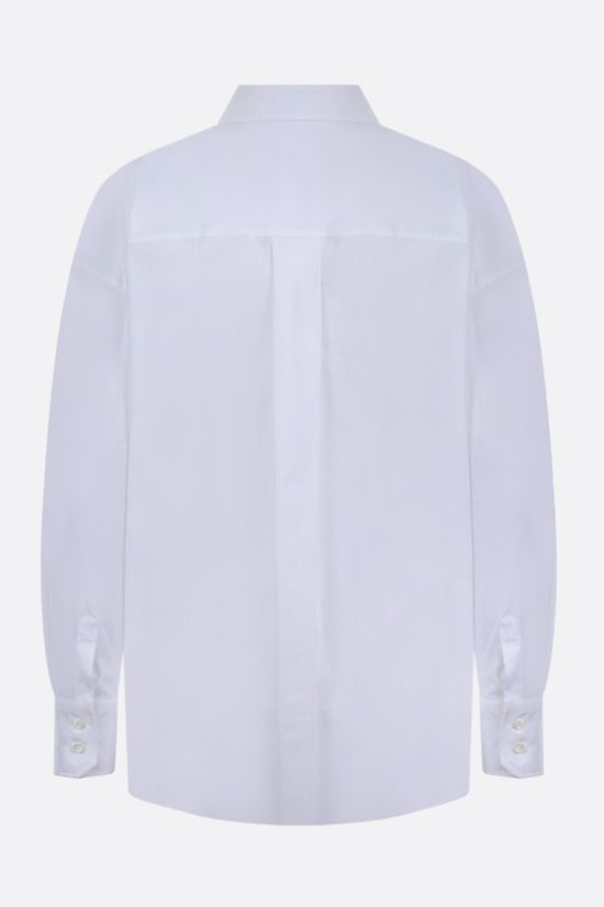 BRUNELLO CUCINELLI: monili-detailed cotton blend shirt Color White_2