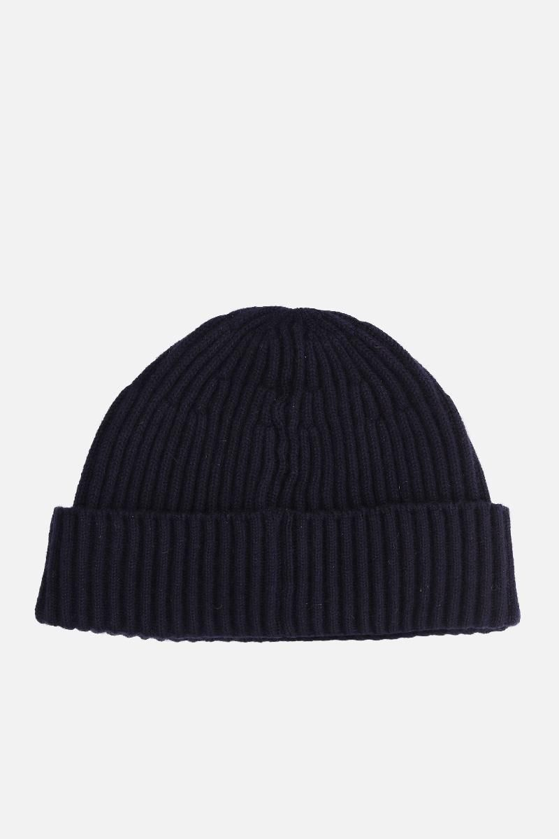 BRUNELLO CUCINELLI: cashmere knit beanie Color Blue_2