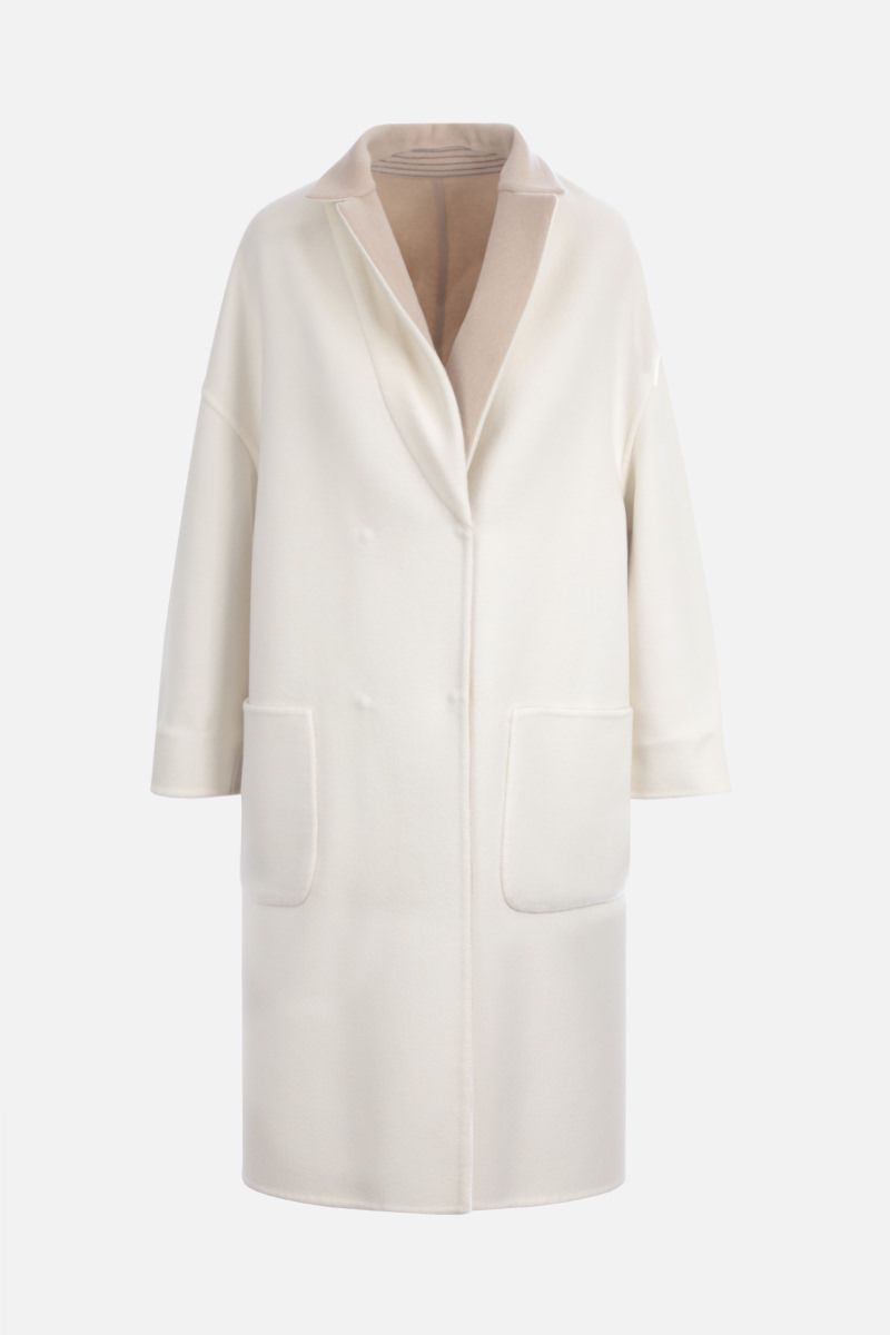 BRUNELLO CUCINELLI: cashmere reversible double-breasted coat_2